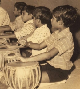 1- Pt. Ghosh began with the tabla