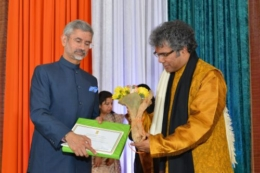 Being Felicitated by Indian Ambassador Sri S. Jaishankar