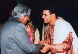 With The President of India, Dr. A P J Abdul Kalam -